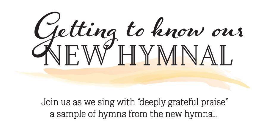 Hymn sing banner for website