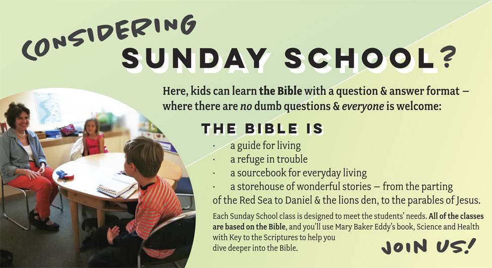 Sunday School Open House Nov 12